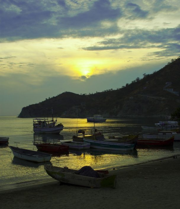 Sud America. Spiaggia di Taganga,Colombia